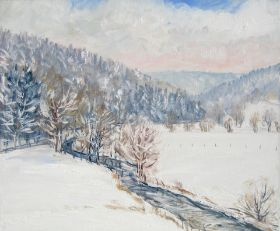 102. Winter am Fluss  60x70.jpg